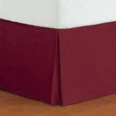 8 Inches Drop Bed Skirt Split Corner Pleated Egyptian Cotton 1000tc
